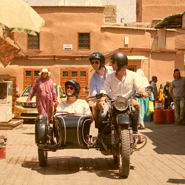Sidecar à Marrakech
